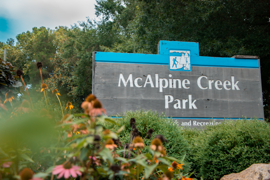 Sign In Front Of McAlpine Creek Park